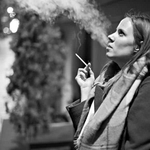 Cigarette Smoking Girl